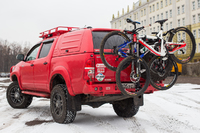 Велобагажник РИФ в квадрат для фаркопа на 4 велосипеда