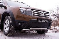 Заглушка решетки (зимняя) переднего бампера (без «дхо» и обвеса) Renault Duster 2010-2014