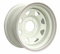 Диск усиленный УАЗ стальной белый 5x139,7 8xR16 d110 ET-19 (треуг. мелкий)