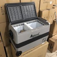 Холодильник автомобильный ALPICOOL T-50 л 12/24/220 В (2 камеры с индивидуальной регулировкой температуры)