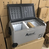 Холодильник автомобильный ALPICOOL T36 л 12/24/220 В (2 камеры с индивидуальной регулировкой температуры)
