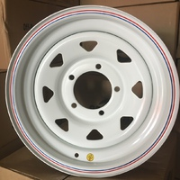 Диск усиленный УАЗ стальной белый 5x139,7 7xR15 d110 ET0 (треуг. мелкий)
